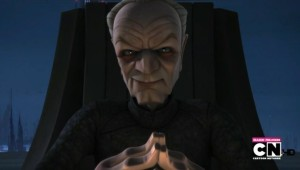 An amused Chancellor Palpatine
