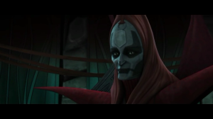 Mother Talzin speaking to Count Dooku