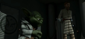 Yoda sharing with Obi-Wan Kenobi about Darth Maul's existence