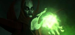 Mother Talzin working her magic on Darth Maul