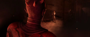 Darth Maul addressing Obi-Wan Kenobi on Raydonia