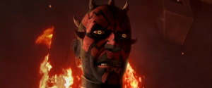 Darth Maul speaking to Obi-Wan Kenobi on Raydonia