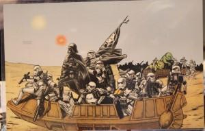 Vader Crossing not the Delaware by Albert Nguyen