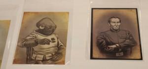 Civil War portraits of Admiral Akbar and Grand Moff Tarkin by Albert Nguyen