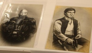 Civil War portraits of old Anakin Skywalker and Han Solo by Albert Nguyen