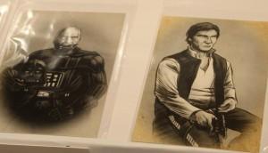 Civil War portraits of old Anakin Skywalker and Han Solo by Albert Nguyen