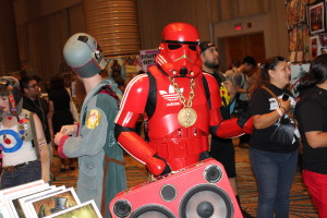 The coolest Star Wars cosplay at yesterday's Long Beach Comic Expo, an Adidas stormtrooper