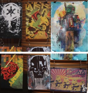 Patty McPancakes Star Wars work at Long Beach Comic Expo 2014