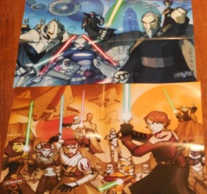 Posters that came with the book