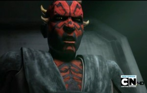 Darth Maul speaking to Pre Vizsla