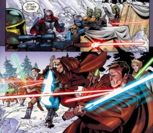 Mandalorians versus Jedi