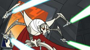 General Grievous with four light sabers drawn