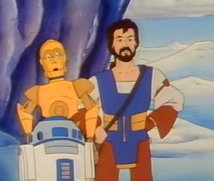 "C-3PO and R2-D2 help Mungo Baobab on his quest to get rich in ""The Frozen Citadel"""