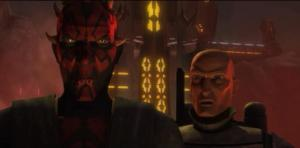 Darth Maul and Pre Vizsla discussing a bigger force