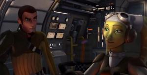 Hera and Kanan speaking about Ezra