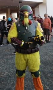 Chicken Fett cosplay
