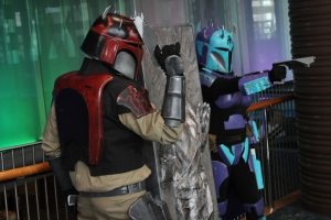 Mandalorian cosplay with Carbonite