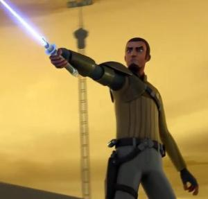 Kanan exposing himself as a Jedi to the Empire