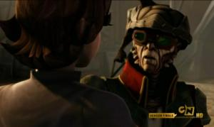 Hondo Ohnaka telling Boba Fett that his father was an honorable man