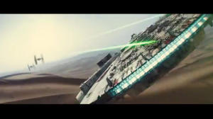 The Millenium Falcon fighting off a couple of TIE fighters in A Force Awakens teaser trailer elicited a lot of interest in the new movie