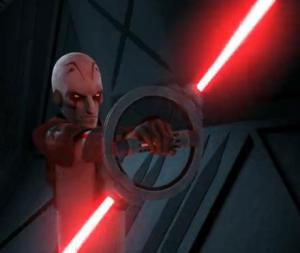 The Inquisitor with spinning dual lightsaber