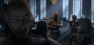 Pre Vizsla having Darth Maul arrested