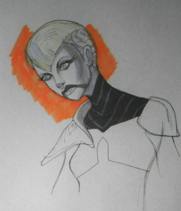 Sketch for new haircut for Asajj Ventress
