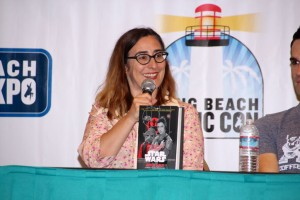"Cecil Castellucci spoke about her new book, ""Star Wars: Moving Target"" (Picture by Jesse Nowlin)"