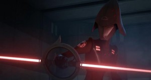 The Seventh Sister possesses a spinning double-bladed light saber