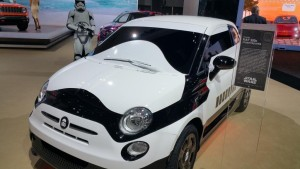 Fiat 500e First Order Stormtrooper Car