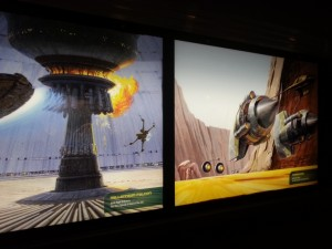 Concept Art to be seen while waiting in line for Star Wars Launch Bay