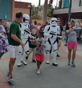 First Order Stormtroopers walking around at Disney's Hollywood Studios