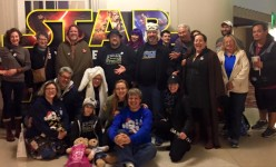 "It was great meeting up with a bunch of other Star Wars fans to watch ""The Force Awakens"" in Downtown Disney"