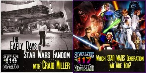The two most recent episodes of Skywalking Through Neverland is where our commentary on the bonus features of the Blu-Ray of The Force Awakens takes place