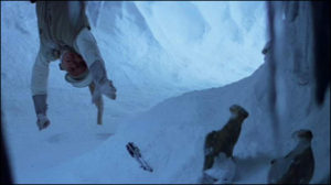 Luke Skywalker reaching for his lightsaber on Hoth