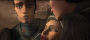 Saw Gerrera in shock about his sisters death