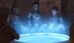 Saw Gerrera is one of the leaders of the Onderonian rebels alongside Steela Gerrera and Lux Bonteri