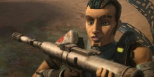 Saw Gerrera loves the rocket launchers and what they can do to the Separatist gunships