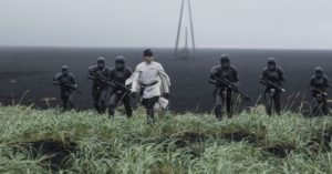 Orson Krennic and Death Troopers on Lah'mu