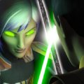 Spirited Sabine fights Ezra with darksaber