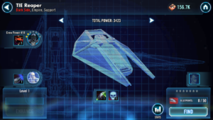 The name of the TIE Reaper was first revealed in Star Wars Galaxy of Heroes