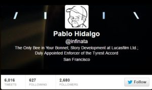 Pablo Hidalgo on Twitter as Infinata
