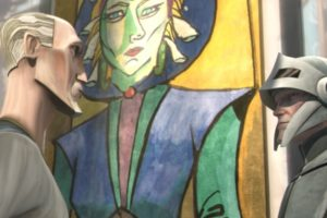 Painting of Duchess Satine as seen in Star Wars The Clone Wars episode Duchess of Mandalore