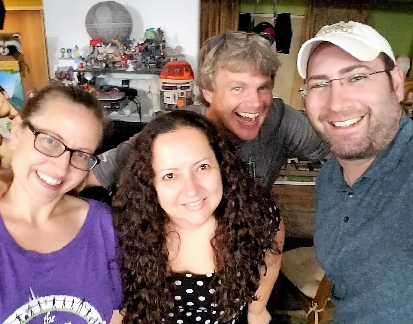 Podcasting with the Skywalking Through Neverland hosts and Nitzan Harel