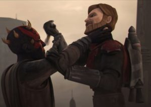 Darth Maul welcomes Obi-Wan to Mandalore
