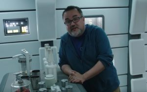 Pablo Hidalgo at Lando Calrissian's bar aboard the Millenium Falcon