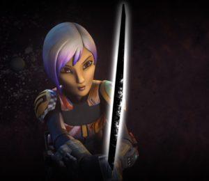 Sabine first ignites the darksaber
