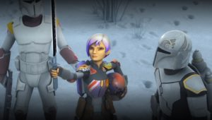Sabine showing her mother the darksaber