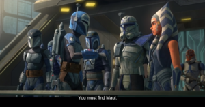 "Bo-Katan tells Ahsoka, ""You must find Maul"""