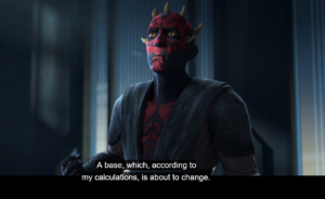 Maul concerned about the power base changing soon